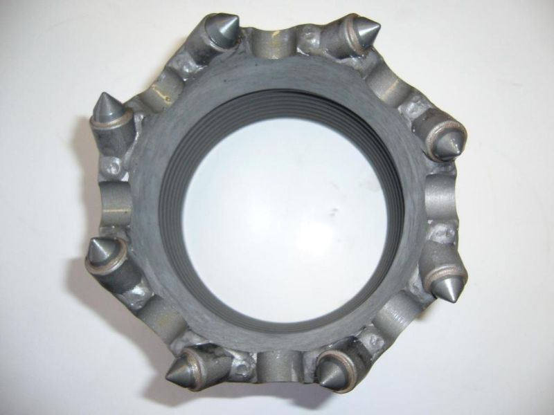 Casing crown with welded teeth